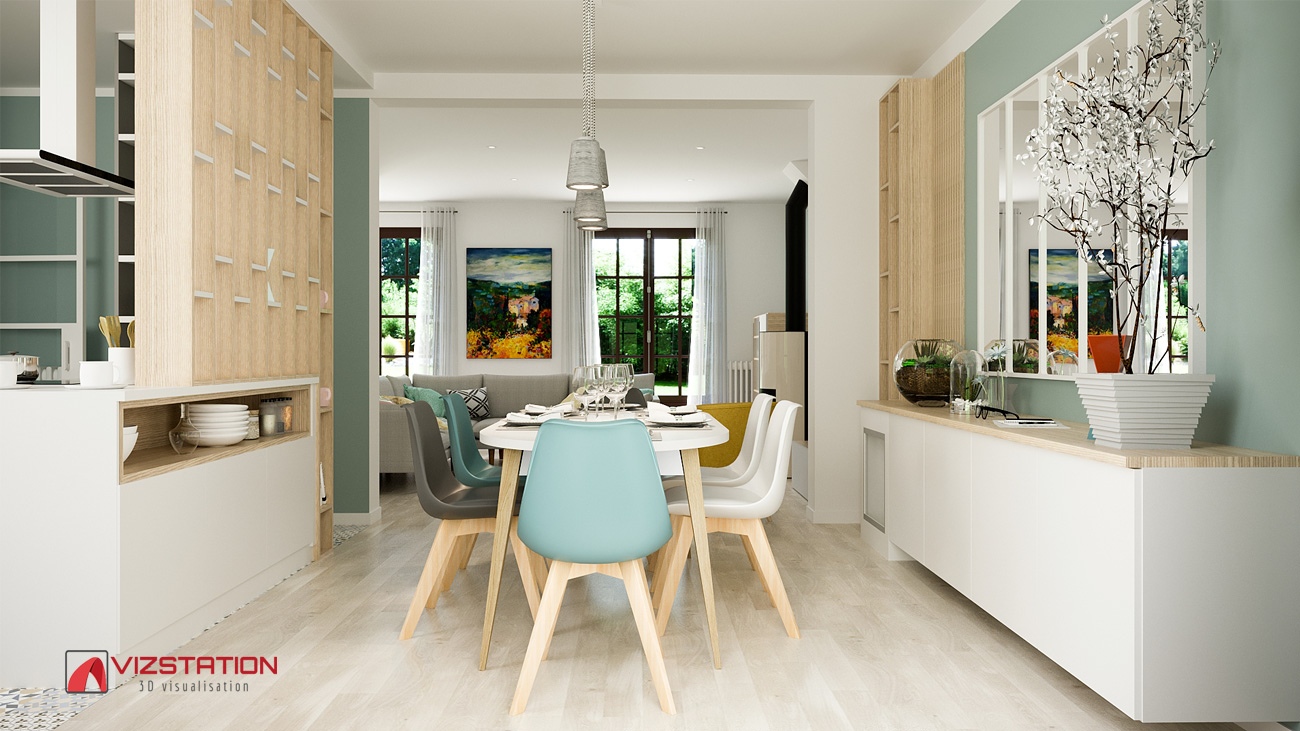 Claustra Intérieur En Bois perspectives 3d architecture d'intérieur - images de